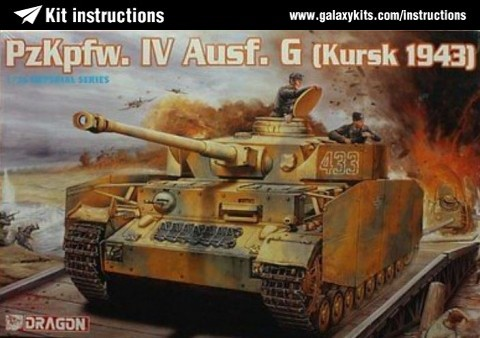 Box cover for Dragon PzKpfw. IV Ausf. G Kursk 1943 in 1:35 scale