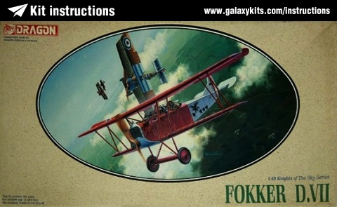 Box cover for Dragon Fokker D.VII in 1:48 scale
