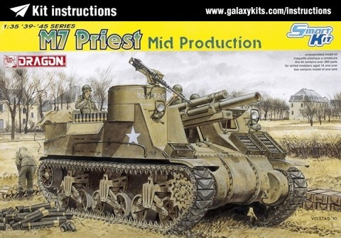 Box cover for Dragon M7 Priest Mid. production in 1:35 scale