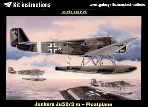 Box cover for Eduard Junkers Ju52/3 m - Floatplane in 1:144 scale