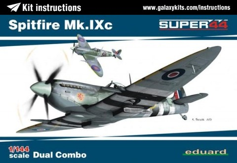 Box cover for Eduard Spitfire Mk.IXc in 1:144 scale