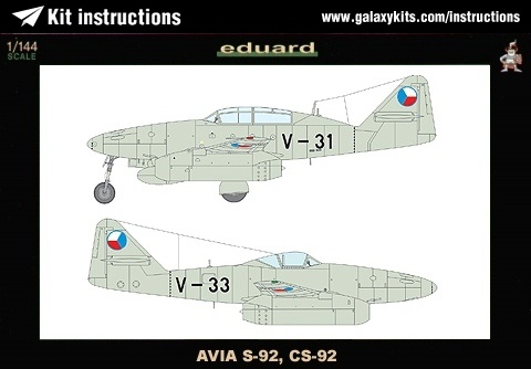 Box cover for Eduard AVIA S-92, CS-92 in 1:144 scale