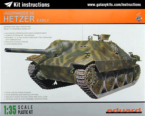 Box cover for Eduard Jagdpanzer Hetzer early in 1:35 scale