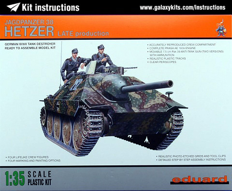 Box cover for Eduard Jagdpanzer Hetzer late in 1:35 scale