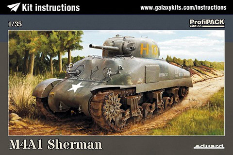 Box cover for Eduard M4A1 Sherman in 1:35 scale