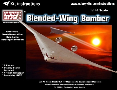 Box cover for Fantastic Plastic Blended-Wing Bomber in 1:144 scale
