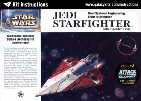 Box cover for Fine molds Jedi Starfighter in 1:72 scale