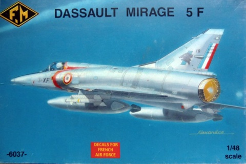 Box cover for Fonderie Miniatures Dassault Mirage 5F in 1:48 scale
