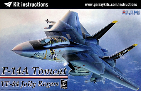 Box cover for Fujimi F-14A Tomcat Jolly Rogers in 1:72 scale