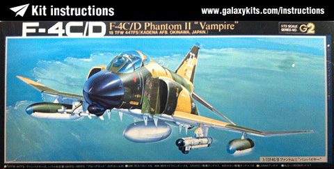 Box cover for Fujimi F-4C/D Phantom II in 1:72 scale