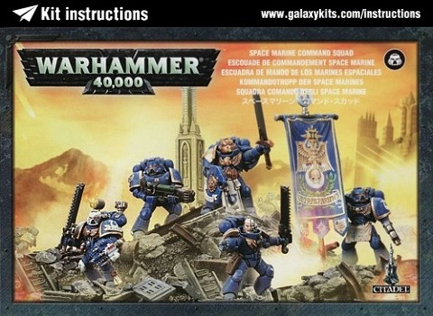 Box cover for Games Workshop Space Marine Command Squad in Unknown scale