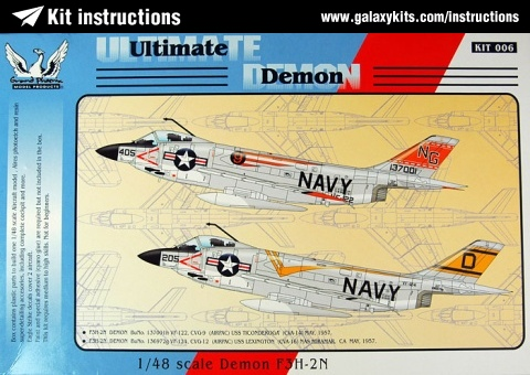 Box cover for Grand Phoenix Demon F3H in 1:48 scale