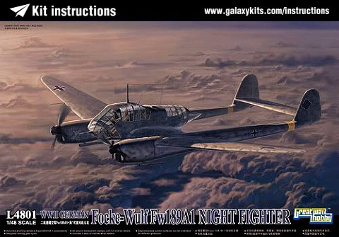Box cover for Great Wall Hobby Fw-189 A-1 Nacht Jager in 1:48 scale