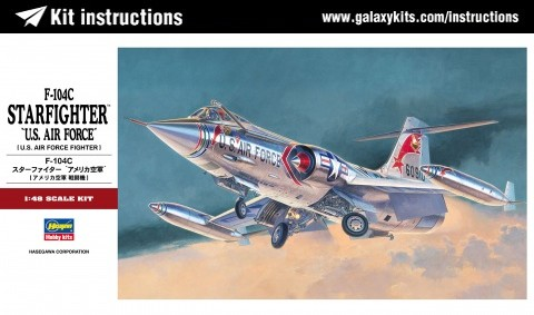 Box cover for Hasegawa F-104C STARFIGHTER in 1:48 scale