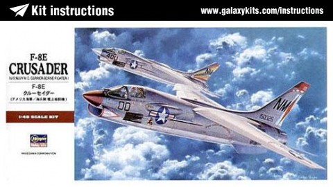 Box cover for Hasegawa F-8E Crusader in 1:48 scale