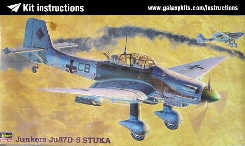 Box cover for Hasegawa Junkers Ju87D-5 Stuka in 1:48 scale