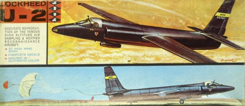 Box cover for Hawk IMC Lockheed U-2C in 1/48 scale