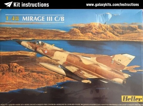Box cover for Heller Dassault Mirage IIIC/B in 1:48 scale