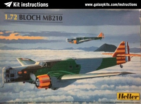 Box cover for Heller Bloch MB 210 in 1:72 scale