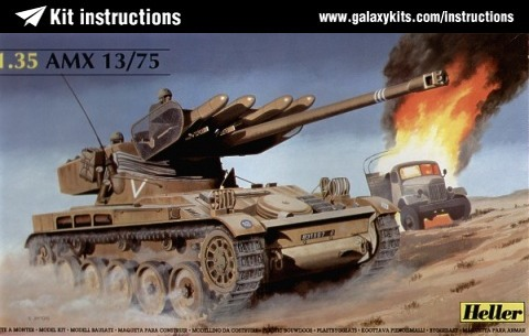 Box cover for Heller AMX 13-75 in 1:35 scale