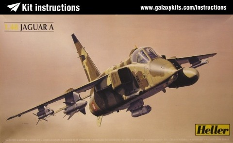 Box cover for Heller SEPECAT JAGUAR A in 1:48 scale