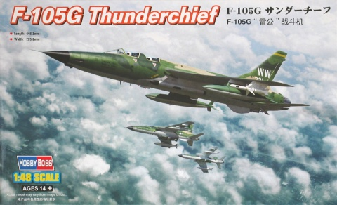 Box cover for Hobby Boss F-105G THUNDERCHIEF in 1:48 scale