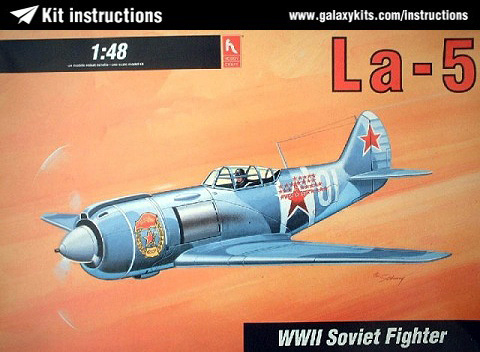 Box cover for Hobbycraft La-5 WWII Soviet Fighter in 1:48 scale