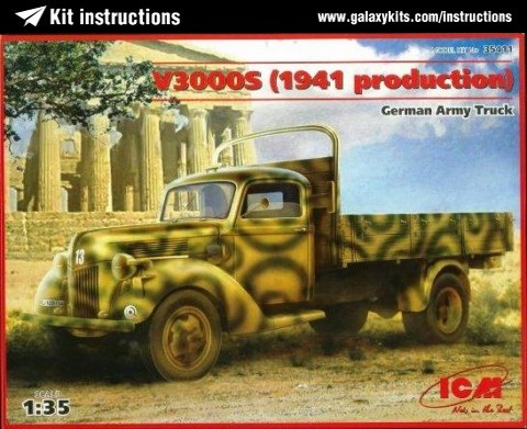 Box cover for ICM German Army Truck V3000S (1941 Production) in 1:35 scale