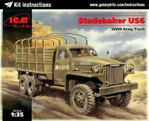 Box cover for ICM Studebaker US 6 WWII Army Truck in 1:35 scale