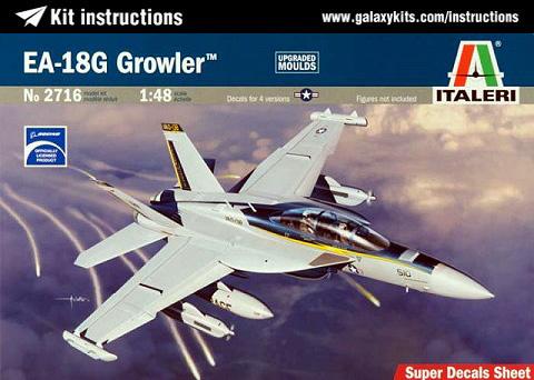 Box cover for Italeri EA-18G GROWLER in 1:48 scale