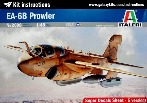 Box cover for Italeri EA-6B Prowler in 1:48 scale