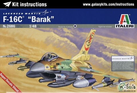 "Box cover for Italeri F-16C ""Barak"" in 1:48 scale"