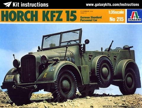 Box cover for Italeri Horch KFZ 15 German Standard Personnel Car in 1:35 scale