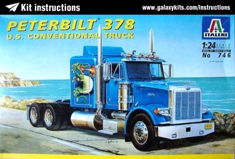 Box cover for Italeri Peterbilt 378 U.S. Conventional Truck in 1:24 scale