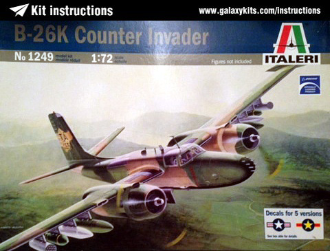 Box cover for Italeri B-26 K Counter Invader in 1:72 scale