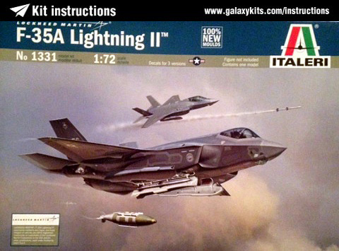 Box cover for Italeri F-35A Lightning II in 1:72 scale