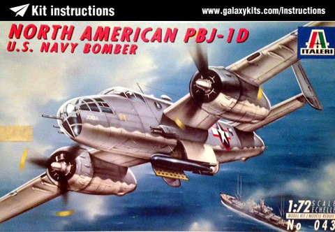 Box cover for Italeri PBJ-1D in 1:72 scale