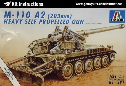 Box cover for Italeri M110A2 Self Propelled Gun in 1:35 scale