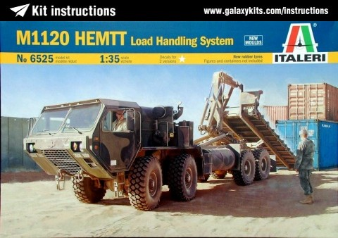 Box cover for Italeri M1120 HEMMT Load Handling System in 1:35 scale