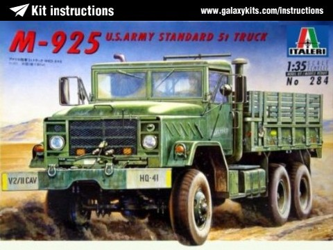 Box cover for Italeri M-925 US Army Standard 5 Ton Truck 6x6 in 1:35 scale