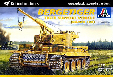 Box cover for Italeri Tiger Support Vehicle in 1:35 scale