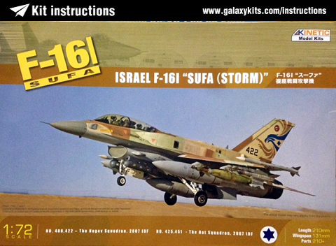 Box cover for Kinetic F-16I Sufa in 1:72 scale