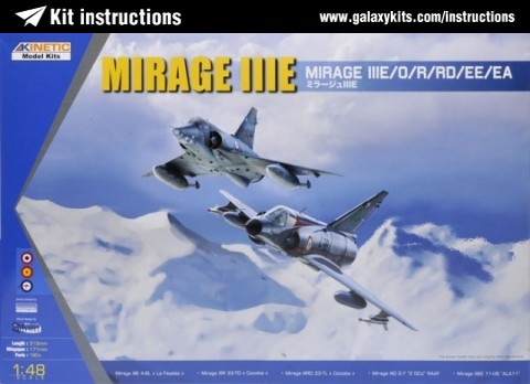 Box cover for Kinetic Mirage IIIE in 1:48 scale