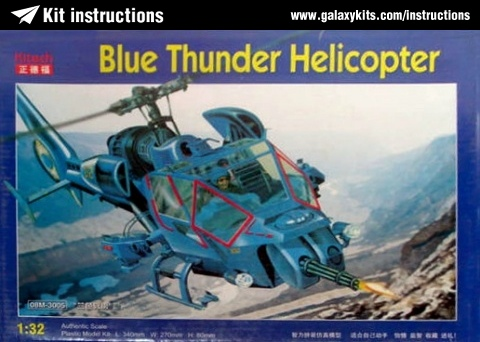 Box cover for Kitech Blue Thunder Helicopter in 1:32 scale