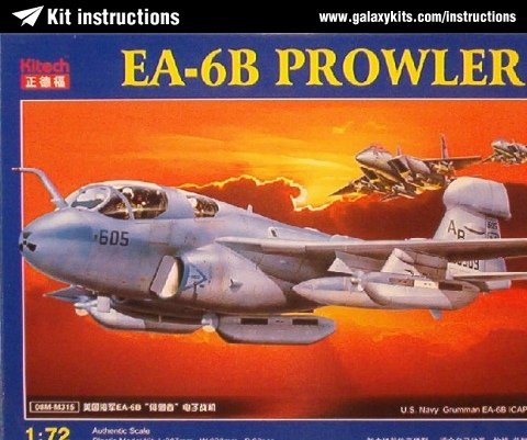 Box cover for Kitech EA-6B Prowler in 1:72 scale