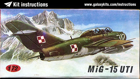 Box cover for KP MODELS MiG-15 UTI in 1:72 scale