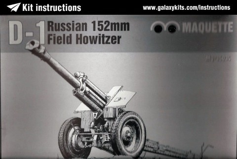 Box cover for Maquette D-1 152mm Howitzer in 1:35 scale