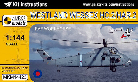 Box cover for MARK I. models Westland Wessex HC.2/HAR.2 in 1:144 scale