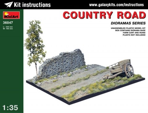 Box cover for Miniart Country Road in 1:35 scale