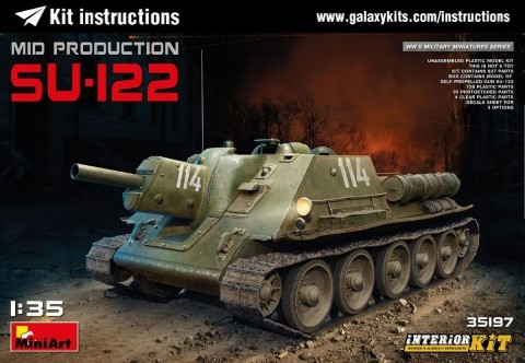 Box cover for Miniart SU-122 Mid Production (with full interior) in 1:35 scale